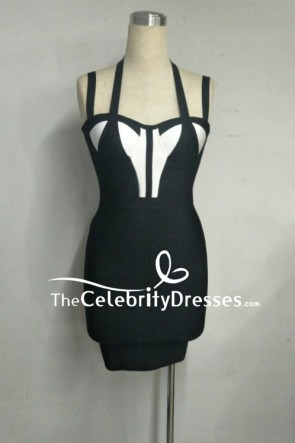 Sexy Black Club Bandage Dress Party Mini Dress TCDFD7922