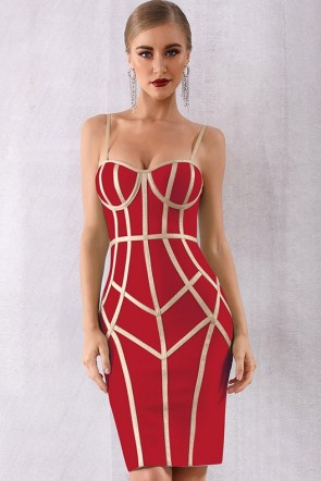 Sexy Spaghetti Straps Party Bandage Dress