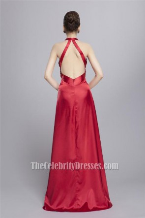Sexy Backless Floor Length Evening Gown Prom Dresses