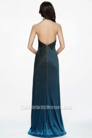 Sexy Blue Halter Backless Evening Dress Formal Gowns TCDBF076