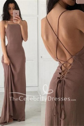 Sexy Spaghetti Straps Evening Gown Party Prom Dresses