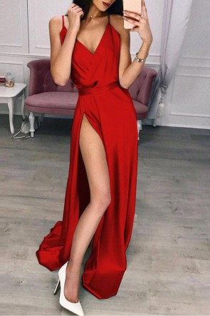 Sexy Thigh-high Slit Dress