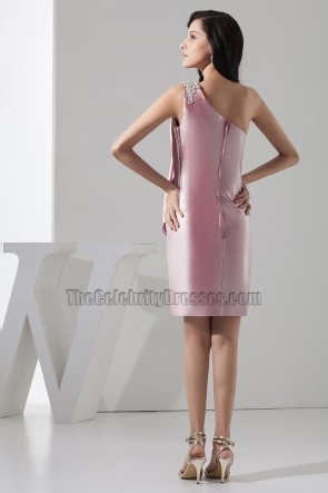 Sheath/Column One Shoulder Party Homecoming Dresses