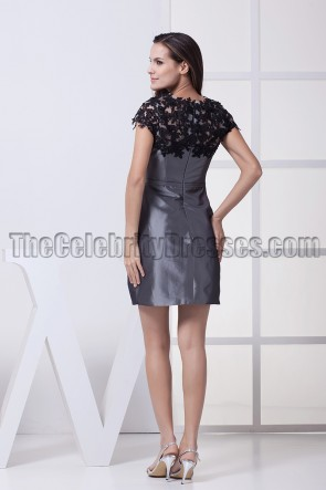 Gray Short Mini Homecoming Party Graduation Dresses