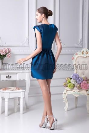 Short Mini V-neck Party Cocktail Homecoming Dresses