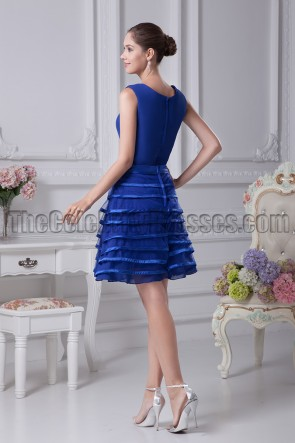 Short Royal Blue A-Line Cocktail Graduation Dresses