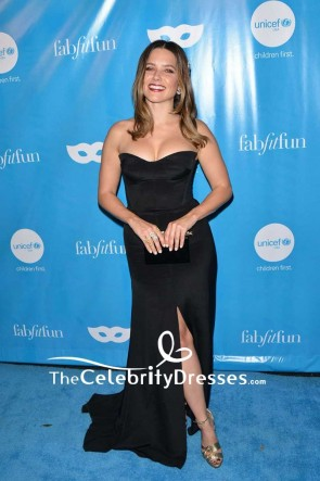 Sophia Bush Black Strapless Backless Evening Gown UNICEF Next Generation Masquerade Ball