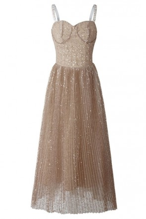 Sequin Spaghetti Straps Dress