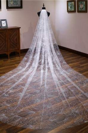 Sparkly Cathedral Bridal Veils With Sequins