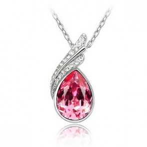 Swarovski Element Crystal Rhinestone Necklace for Women Flowing TCDN2194