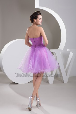Sweetheart Strapless A-Line Tulle Party Graduation Dresses