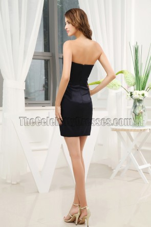 Sexy Strapless Mini Beaded Party Graduation Dresses
