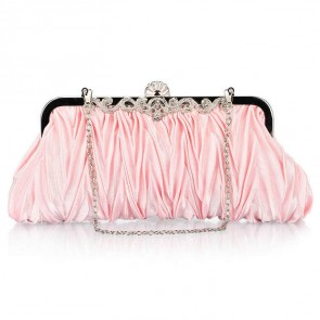 Women's Simple Evening Handbag Ruffle Rhinestone Mini Party Clutch Bag 3