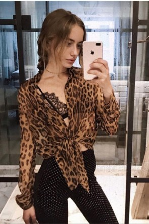 Sexy Fashion Leopard Shirt