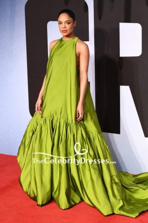 Tessa Thompson Lemon Green A-line Ball Gown European Premiere Of 'Creed II'