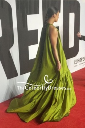 Tessa Thompson Lemon Green A-line Ball Gown European Premiere Of 'Creed II' TCD8192