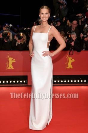 Toni Garrn White Sequin Column Thigh-high Slit Evening Dress erlinale International Film Festival Berlin 2018