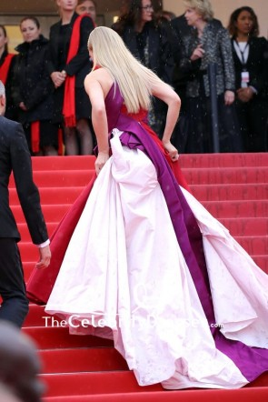 Toni Garrn One Shoulder Thigh-high Slit Evening Dress 2019 Cannes Film Festival TCD8519