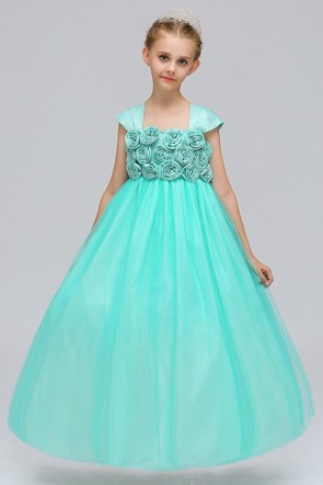 Tulle Ball-Gown Junior Bridesmaid Dress