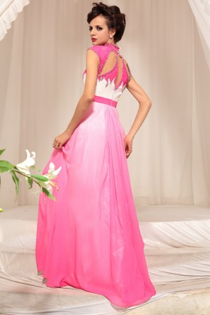 Cut Out Gradient Formal Evening Dresses Prom Gown