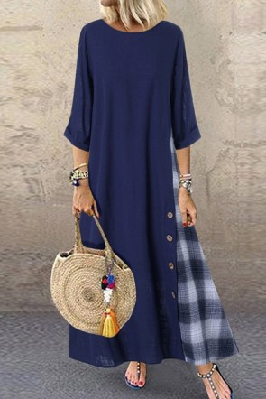 Vintage Maxi Casual Dress