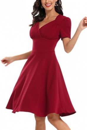 Vintage V-Neck A-line Homecoming Dress