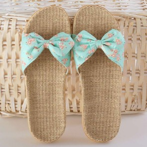 Wide Fit Open Toe Sliders With Bows