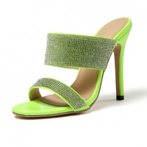 Women's Fashion Rhinestone High Heels Flip Flops