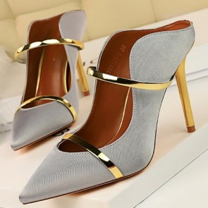 Women's Satin Pointed Toe Stiletto Heel Shoes