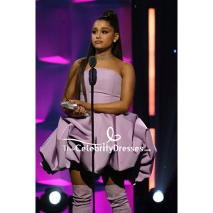Ariana Grande Lavender Strapless Fit And Flare Cocktail Dress 2018 Billboard Women