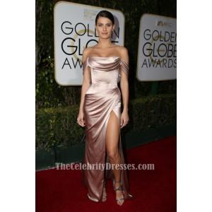 Isabeli Fontana 2016ゴールデングローブオフショルダーイブニングドレス