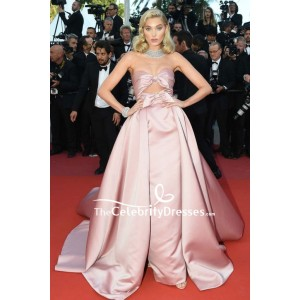 Elsa Hosk Strapless Cut Out Ball Gown 2018 Cannes Film Festival