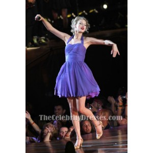Taylor Swift Short Purple Dress Newark Speak Now concert