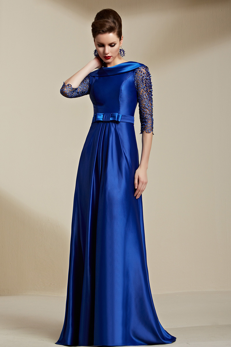 Celebrity Inspired Dark Royal Blue Backless Evening Dress ... - photo#47
