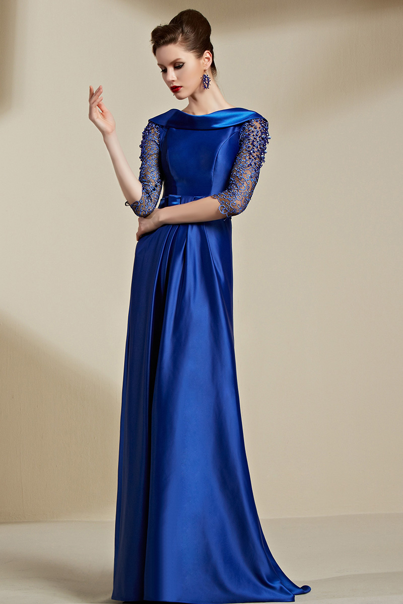 79fb07ec7a Celebrity Inspired Dark Royal Blue Backless Evening Dress Formal Gown -  TheCelebrityDresses