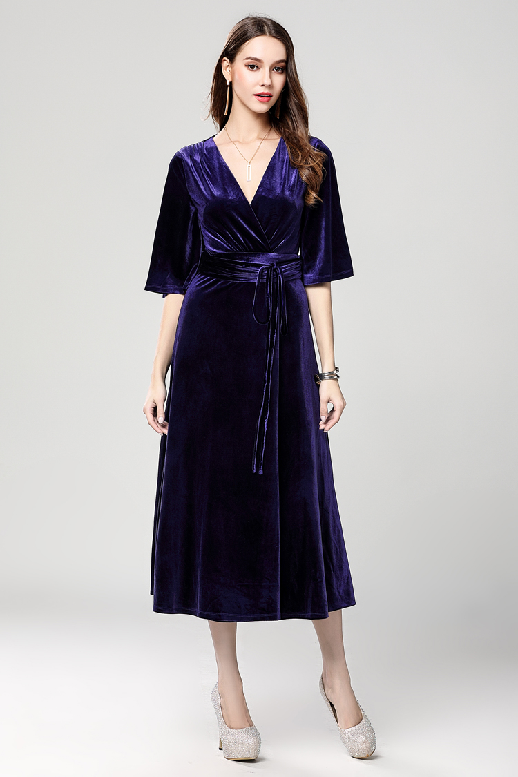 ac274de909de Dark Royal Blue Velvet Cocktail Semi Formal Dresses - TheCelebrityDresses