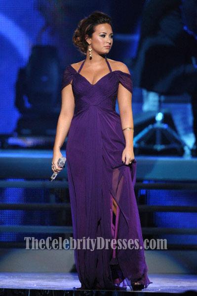 demi lovato halter prom dress 2011 latin grammy awards