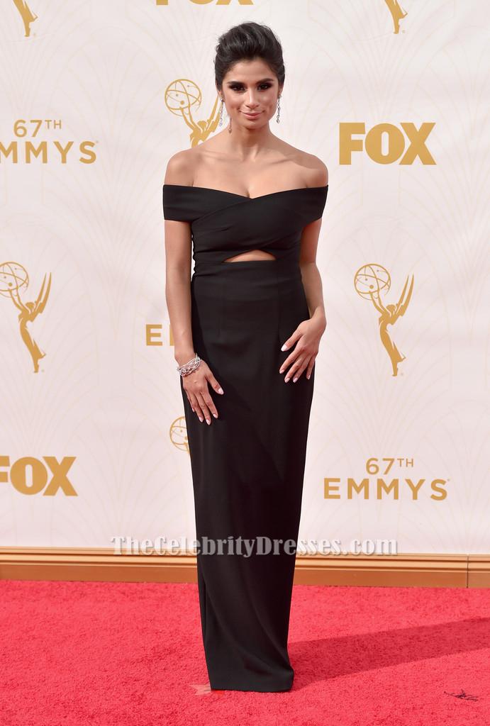 Diane Guerrero Black Formal Dress 67th Emmy Award Red Carpet Thecelebritydresses