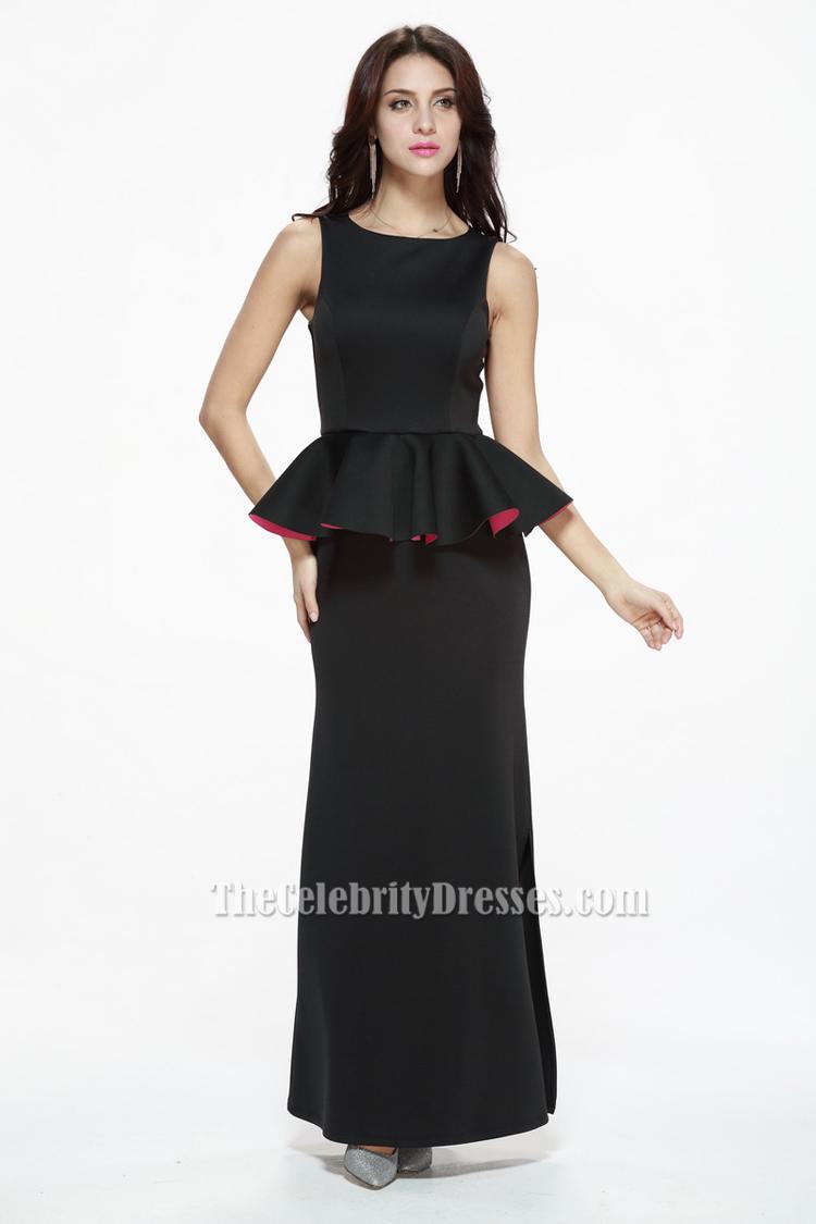 Discount Black Floor Length Formal Dress Evening Gowns