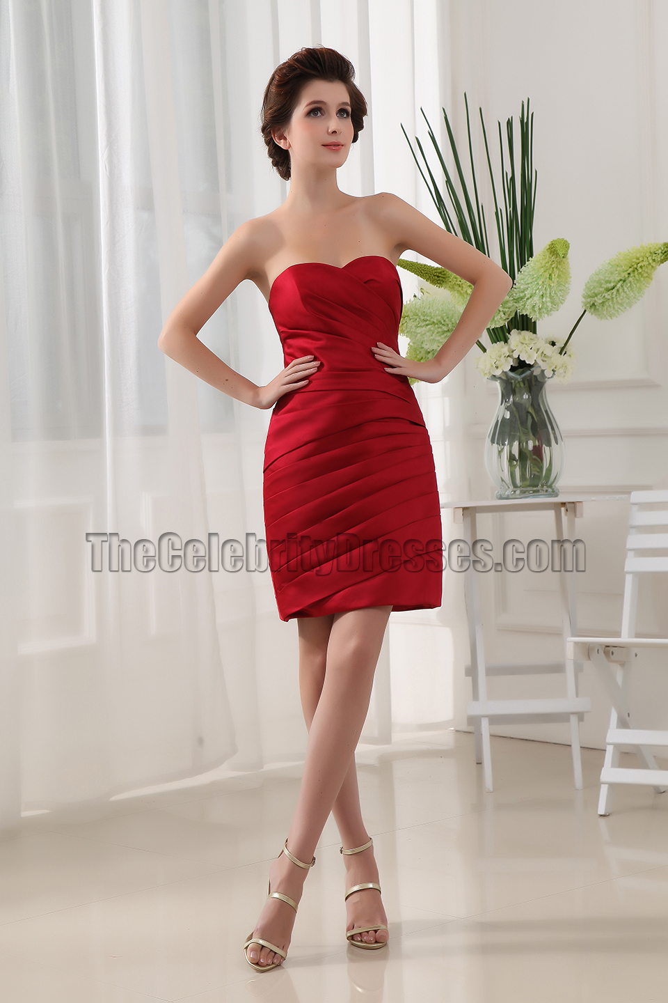 Discount Short Red Sweetheart Party Dress Cocktail Dresses ...