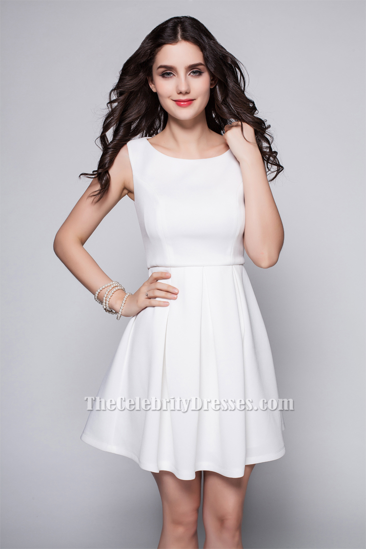 Discount Short White A-Line Party Homecoming Dresses ...