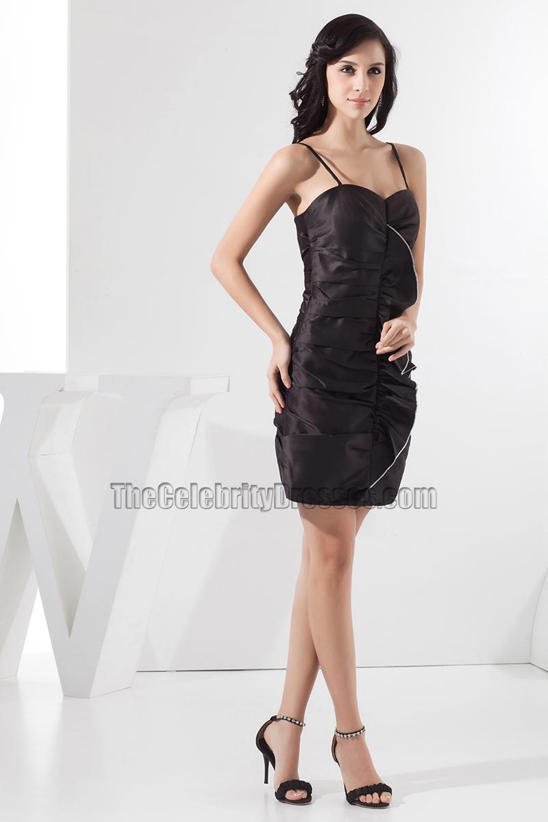 Short Black Spaghetti Strap Dress