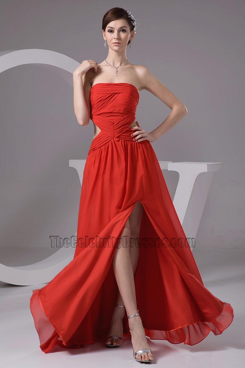 Discount Strapless Backless Prom Dress Evening Gown