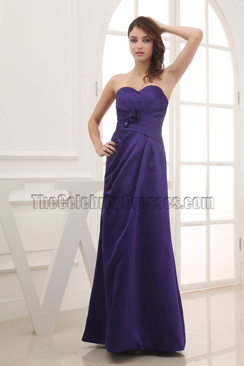 Discount strapless sweetheart prom gown bridesmaid dresses for Cheap strapless wedding dresses
