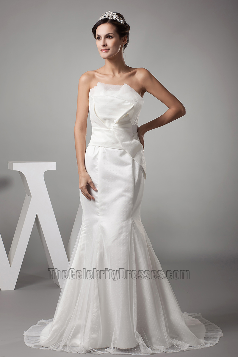 strapless mermaid wedding dresses trumpet mermaid strapless organza wedding dress 7720