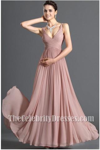 Discount V-neck Chiffon Prom Dress Evening Formal Dresses ...