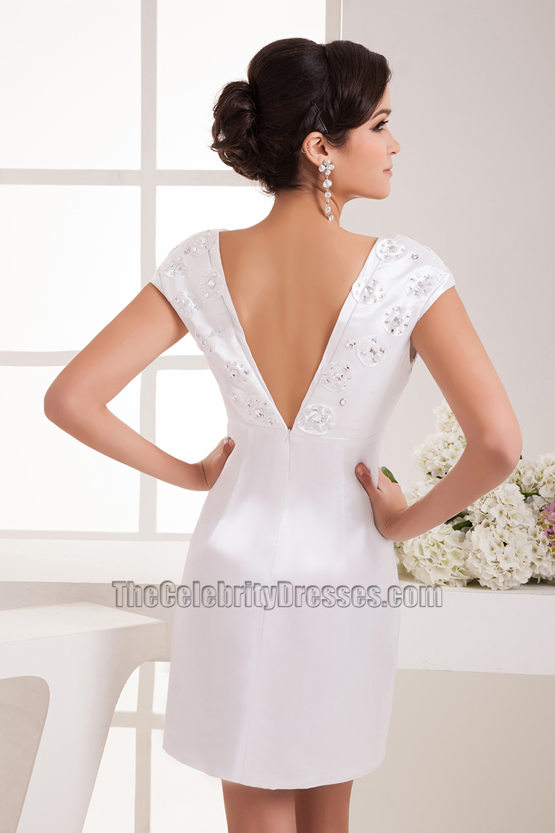White short party dress