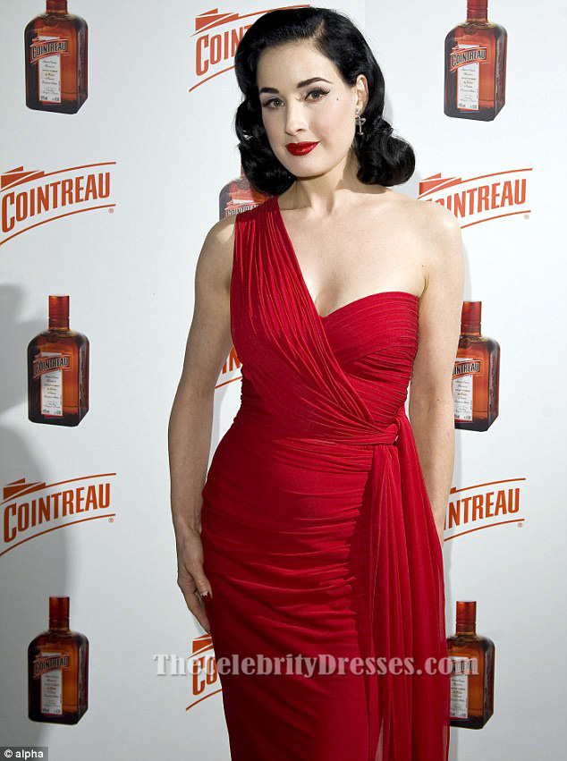 Red One Shoulder Party Dress