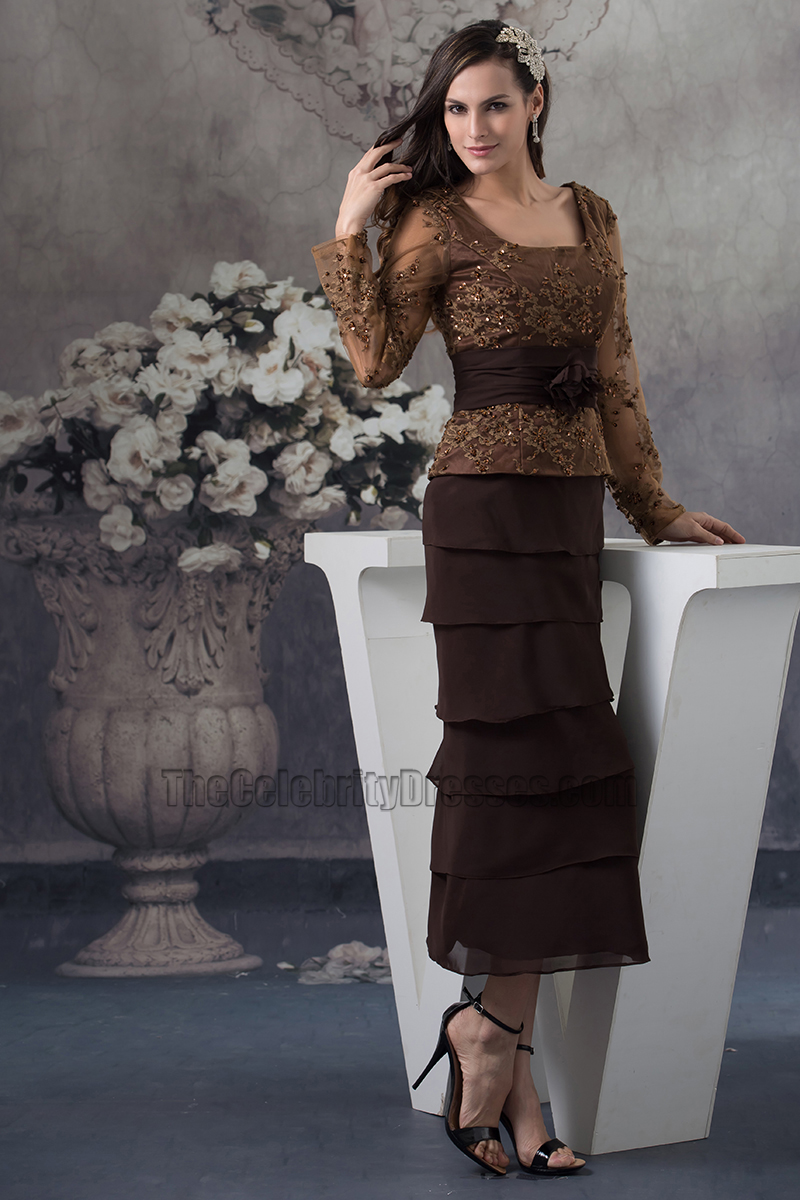 Brown Mother of the Bride Dresses Elegant