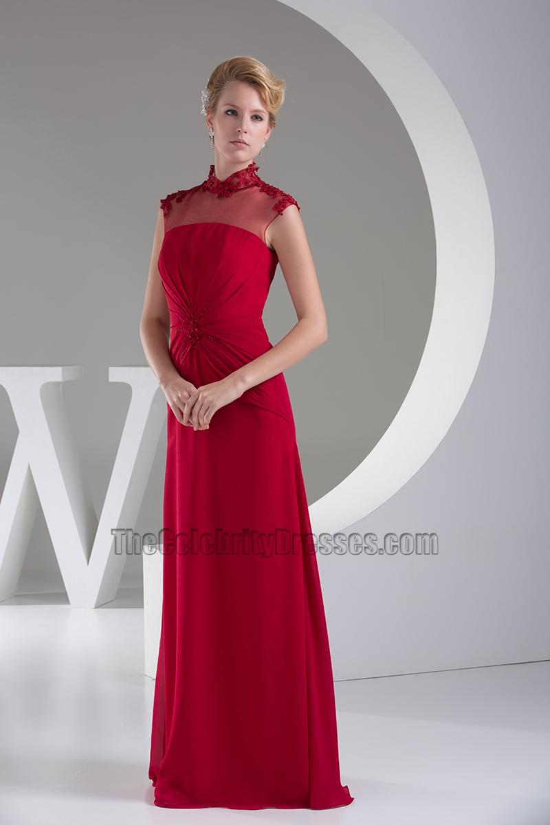 Elegant Burgundy Floor Length Formal Gown Prom Dress ...